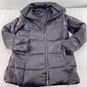 Lands End Womens Size Small Puffer Jacket Black